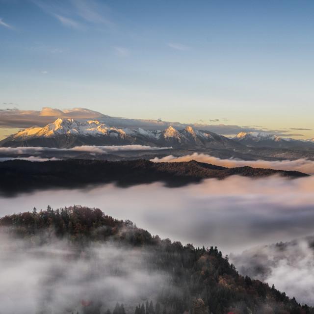 """Tatras Sunrise"" stock image"