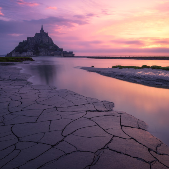 """""""The Mont Saint Michel at the sunrise. Normandy, France"""" stock image"""