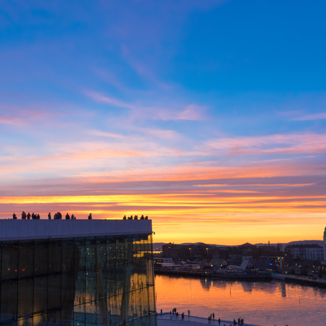 """Oslo Opera Roof"" stock image"