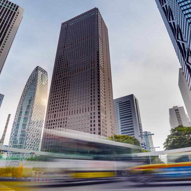 """Cityscape in Shinjuku District, Tokyo, Japan"" stock image"