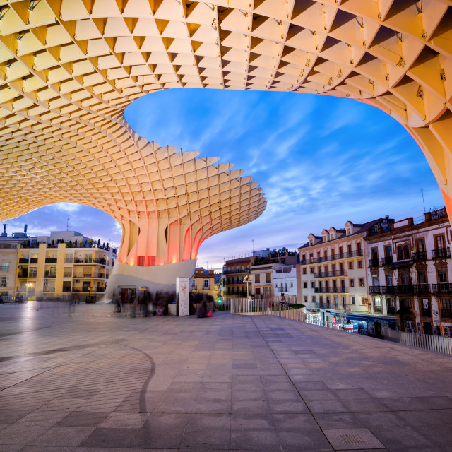 """""""Cityscape From the Metropol Parasol Square, Seville, Andalusia, Spain"""" stock image"""