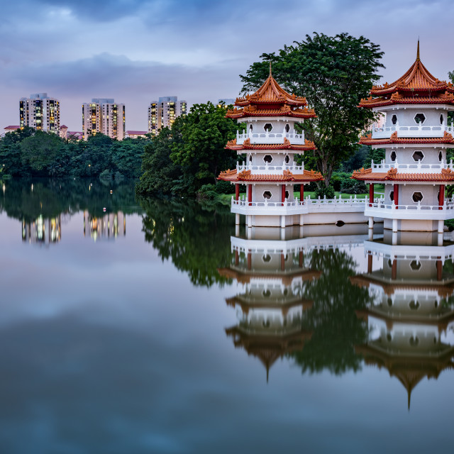 """""""Chinese Garden in Singapore"""" stock image"""