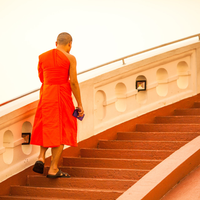 """Morning Monk Ritual"" stock image"