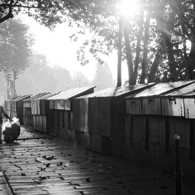 """""""Paris s'éveille"""" stock image"""