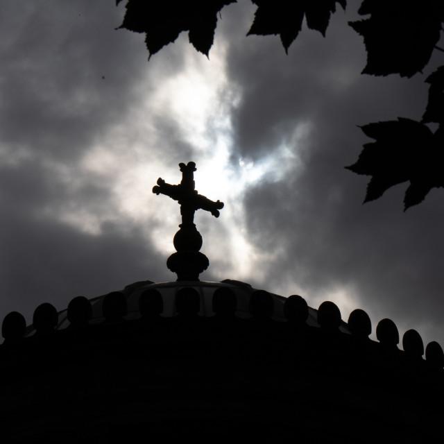 """""""Cross in the Sky"""" stock image"""