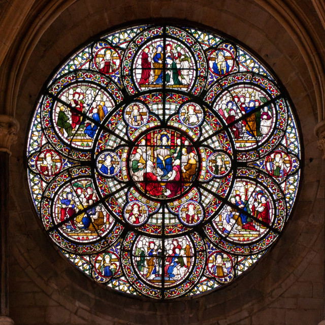 """""""Rose Window from Lincoln Cathedral"""" stock image"""