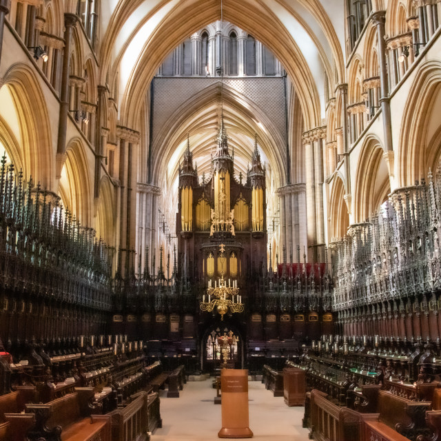 """""""Lincoln Cathedral Quire"""" stock image"""