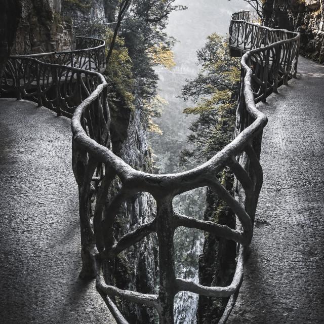 """Tianmen Mountain, China"" stock image"
