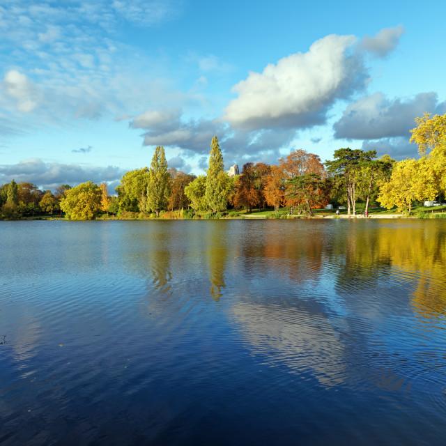 """""""Daumesnil lake"""" stock image"""