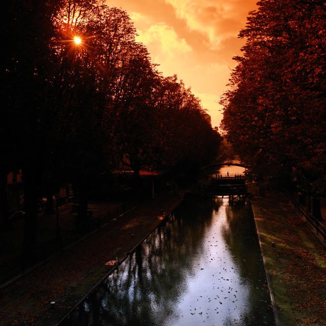 """Canal Saint Martin"" stock image"