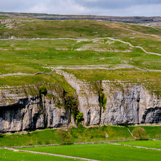 """""""Kilnsey Crag in Yorkshire Dales"""" stock image"""