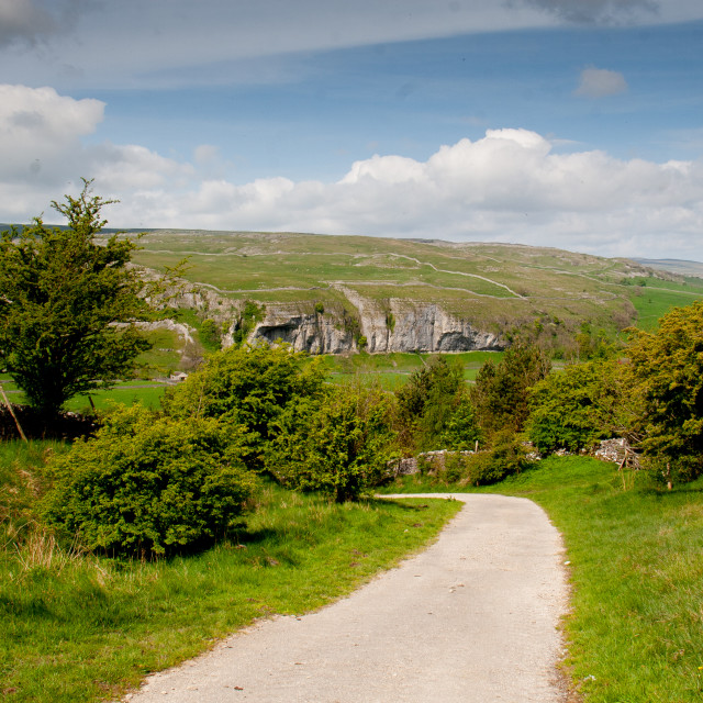 """""""Yorkshire Dales Path above Conistone"""" stock image"""