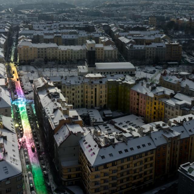 """Rainbow Road"" stock image"