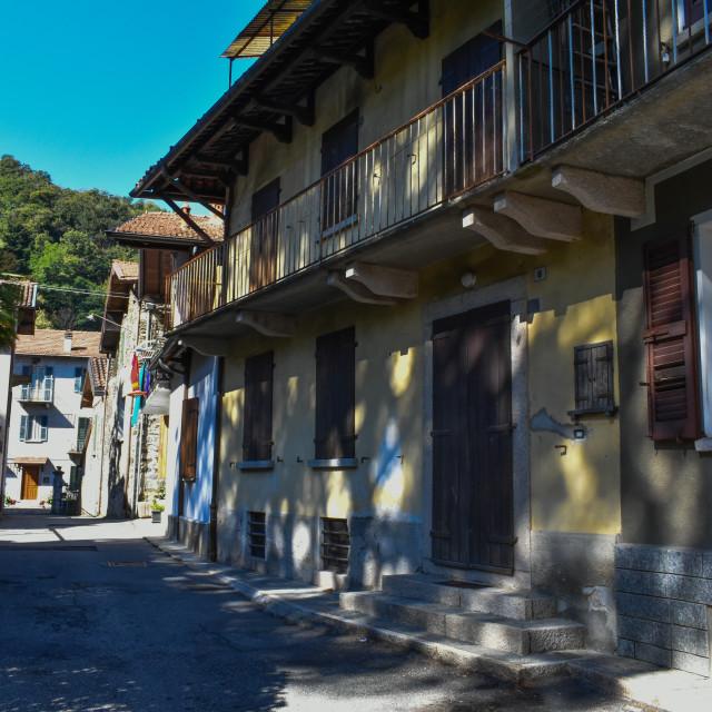 """A Narrow Street in Stresa"" stock image"