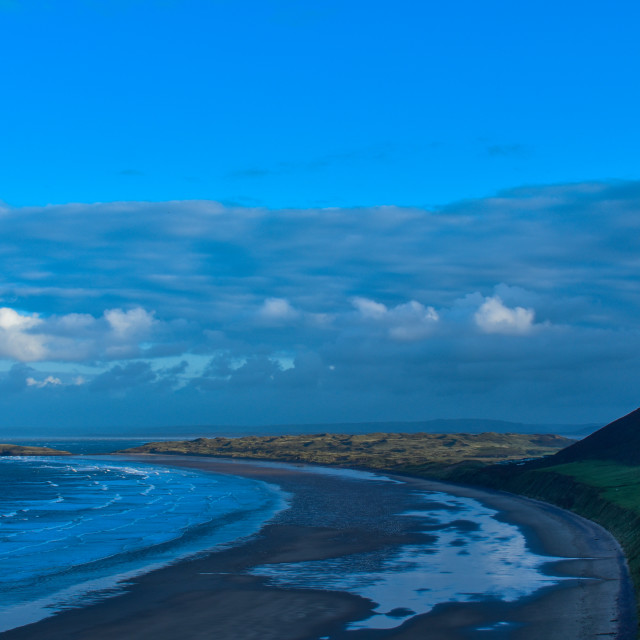 """Evening Light on Rhosilli Bay, Wales."" stock image"