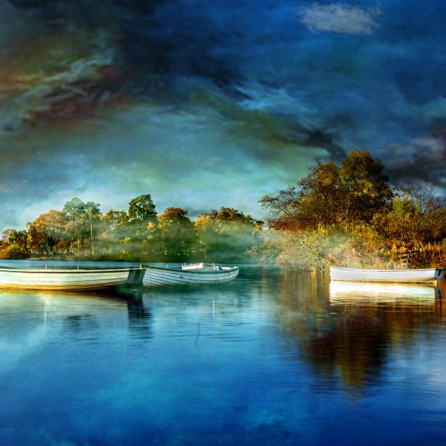 """Rusky Boats Artwork"" stock image"