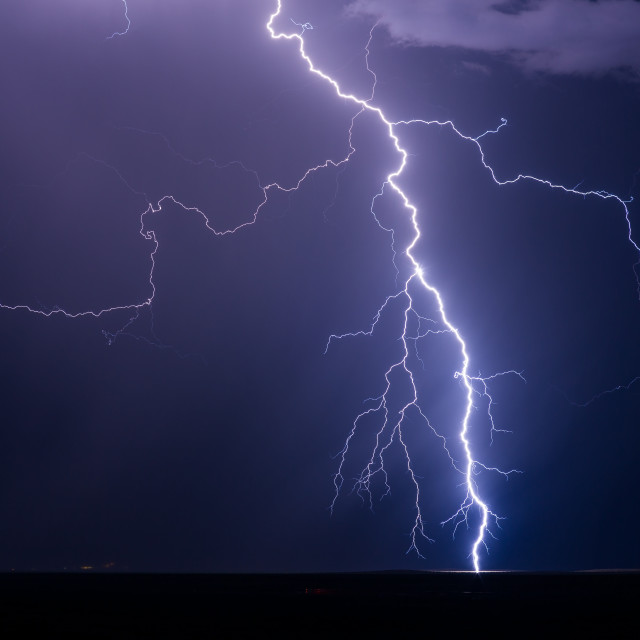 """Lightning storm"" stock image"