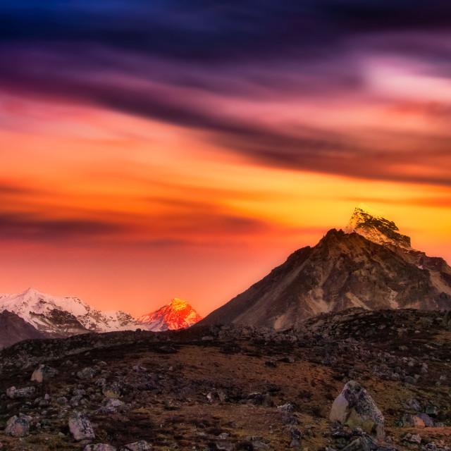 """""""Khumbu Rainbow"""" stock image"""