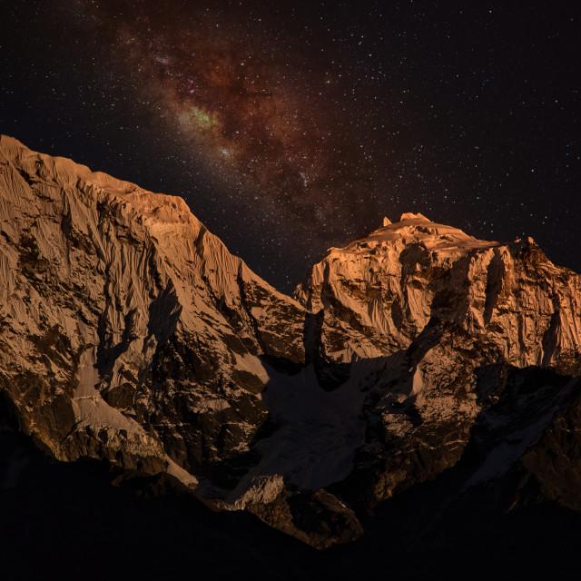 """Khumbu Nights"" stock image"