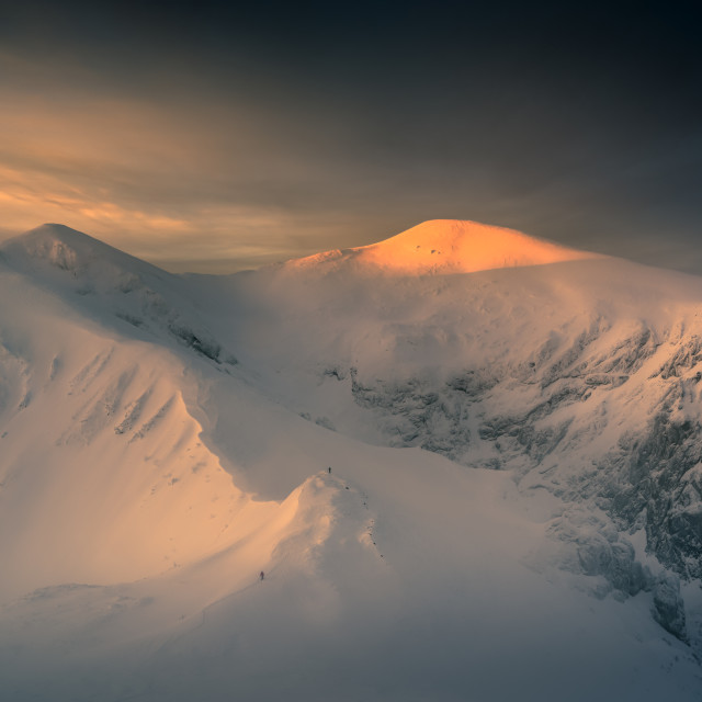 """Stuning sunrise in the Tatra mountain."" stock image"