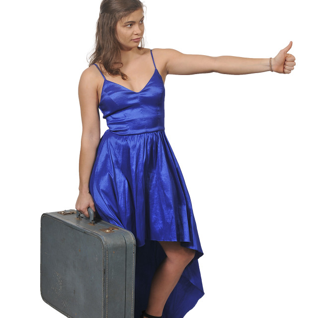 """Woman on or going on vacation"" stock image"