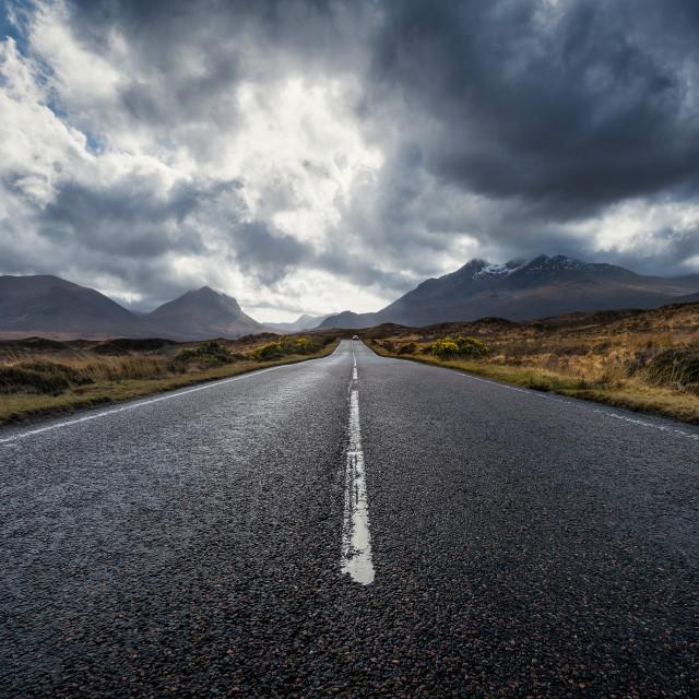 """On the road, Isle of Skye, Scotland, United Kingdom"" stock image"