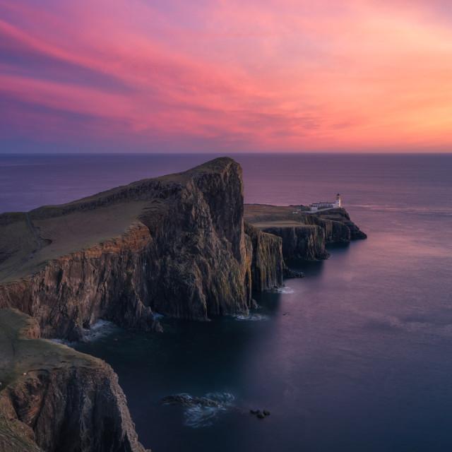 """""""Neist Point Lighthouse, Isle of Skye, Scotland, United Kingdom"""" stock image"""