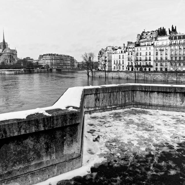 """Winter season in Paris"" stock image"