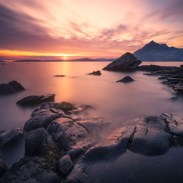 """""""Sunset at Elgol, Isle of Skye, Scotland, United Kingdom"""" stock image"""