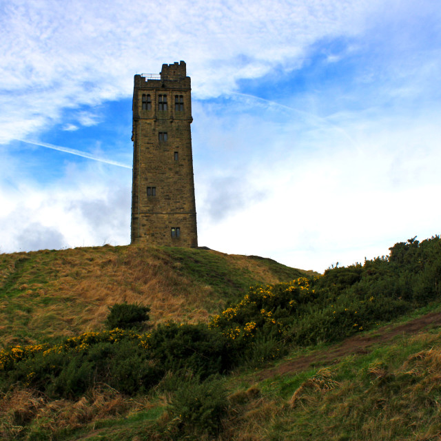 """""""Castle hill- West Yorkshire"""" stock image"""