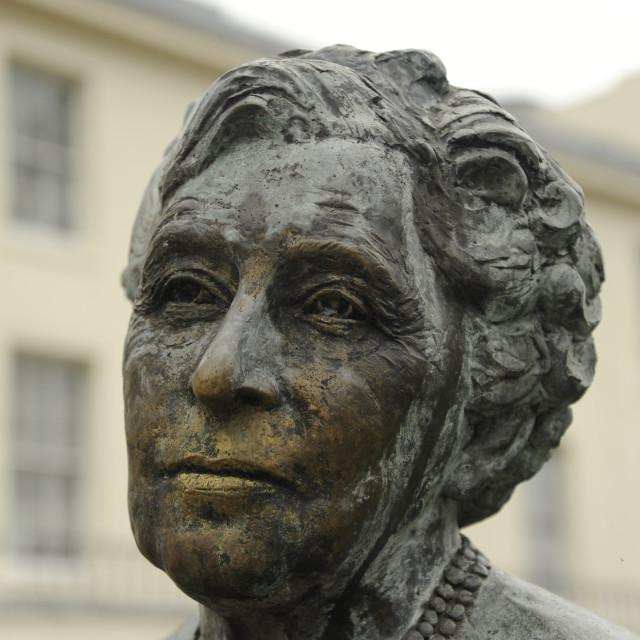 """Agatha Christie sculpture, Torquay"" stock image"