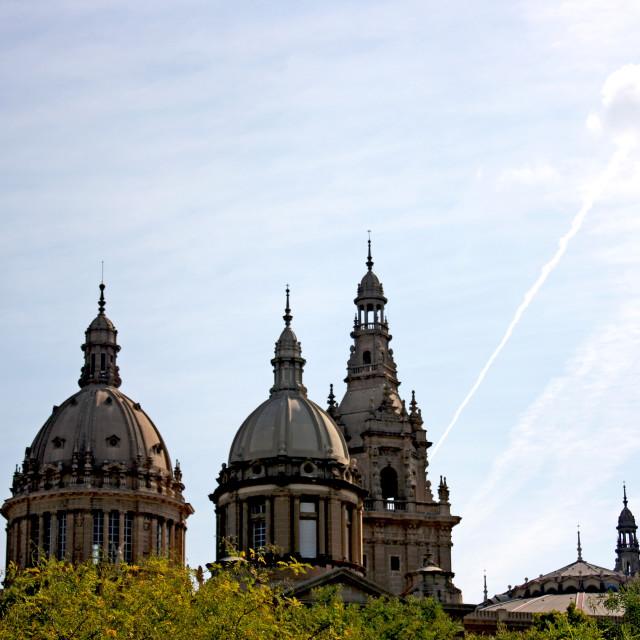 """Museu Nacional d'Art de Catalunya in Spain"" stock image"