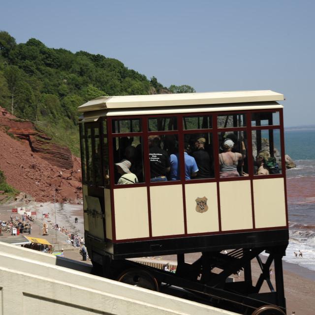 """Babbacombe Cliff Railway"" stock image"
