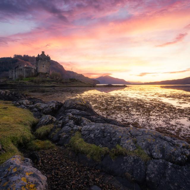 """""""Sunset at Kyle of Lochalsh, Scotland, United Kingdom"""" stock image"""