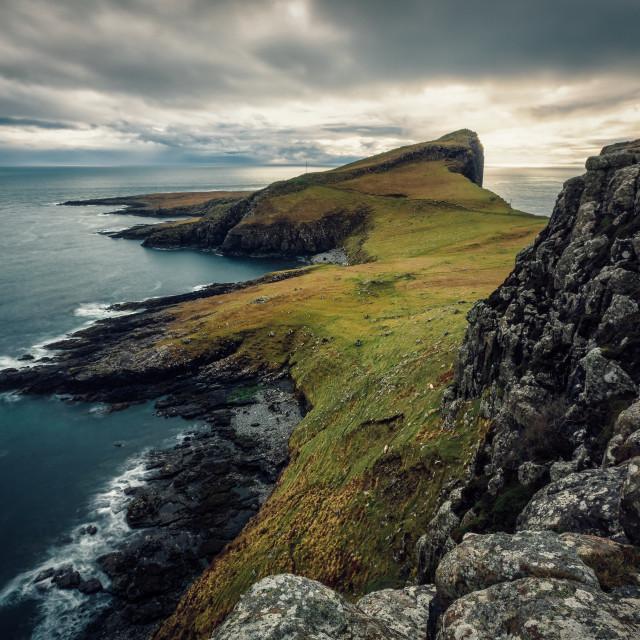 """""""Duirinish peninsula, Glendale, Isle of Skye, Scotland, United Kingdom"""" stock image"""