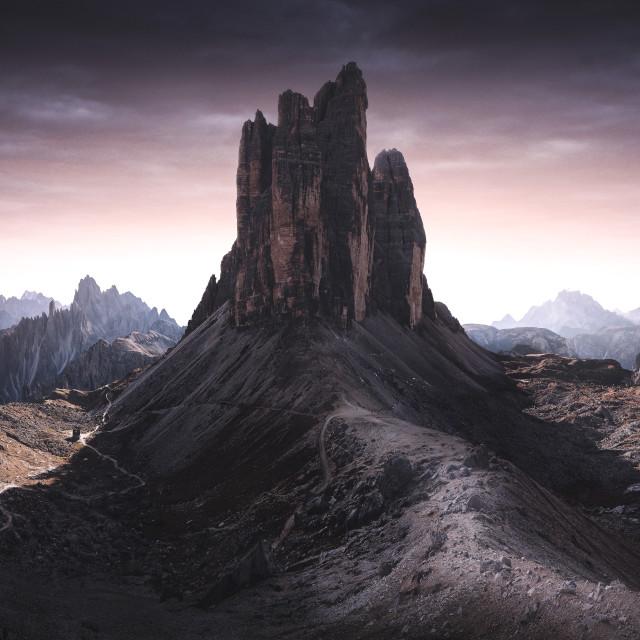 """Tre Cime de Laverado - Italy Dolomites"" stock image"