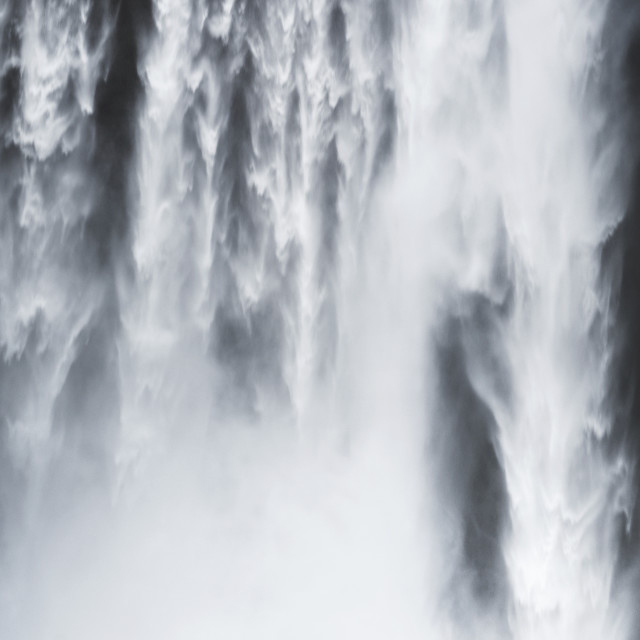 """""""The Mighty Stogafoss Waterfall"""" stock image"""