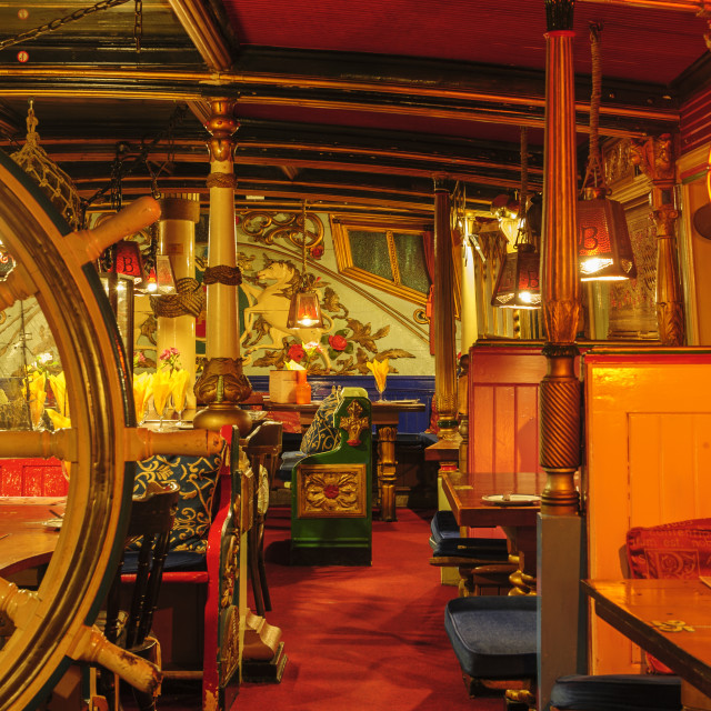 """""""Interior of the Admiral Benbow, Penzance"""" stock image"""