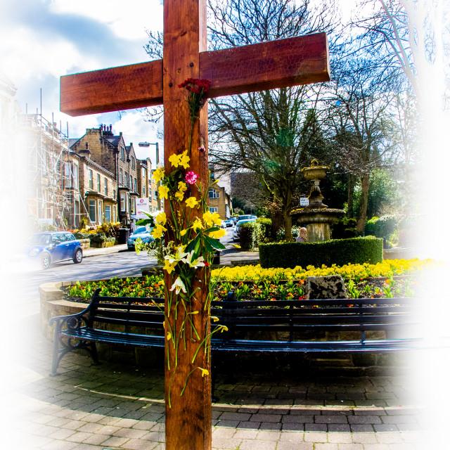 """Easter Cross, Ilkley"" stock image"