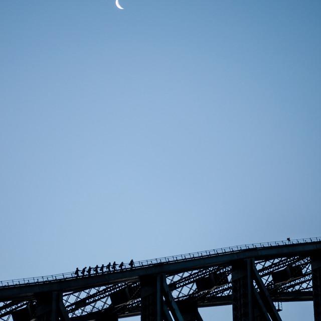"""Bridge Climbers"" stock image"