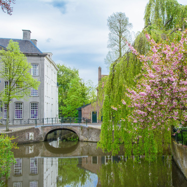 """Dutch city of Amersfoort in spring"" stock image"