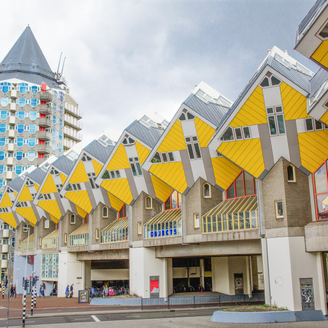 """Row of the Cube houses in Rotterdam"" stock image"