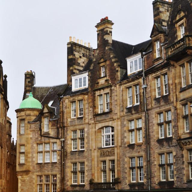 """""""edinburgh stone buildings"""" stock image"""