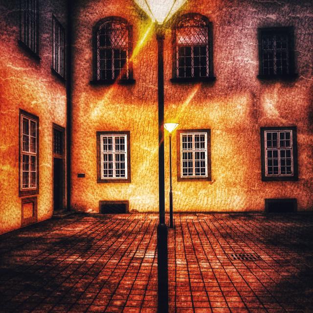 """Brno City Hall Lit"" stock image"