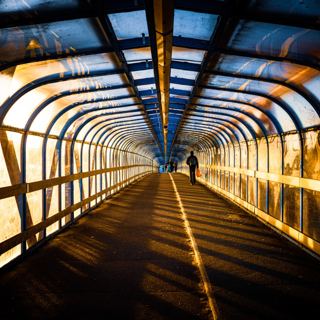 """Cycle Bridge, Cambridge South."" stock image"