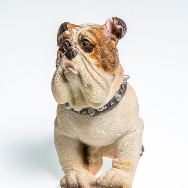 """""""Miniature depicting an English Bulldog"""" stock image"""