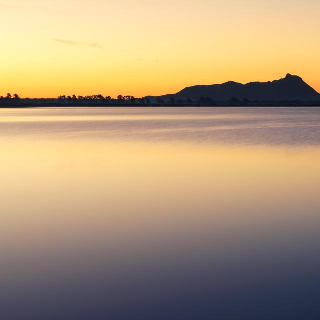 """""""Sunrise over Mount (Promontorio del) Circeo, Latina, Lazio, Italy"""" stock image"""