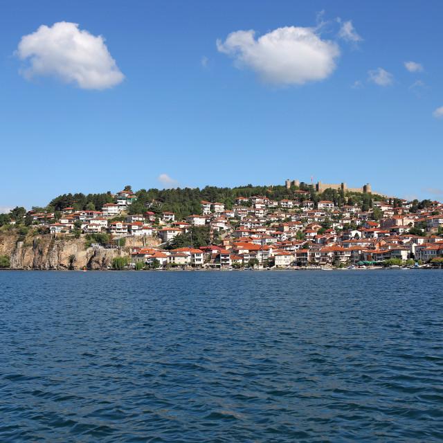 """""""Ohrid city and lake North Macedonia"""" stock image"""