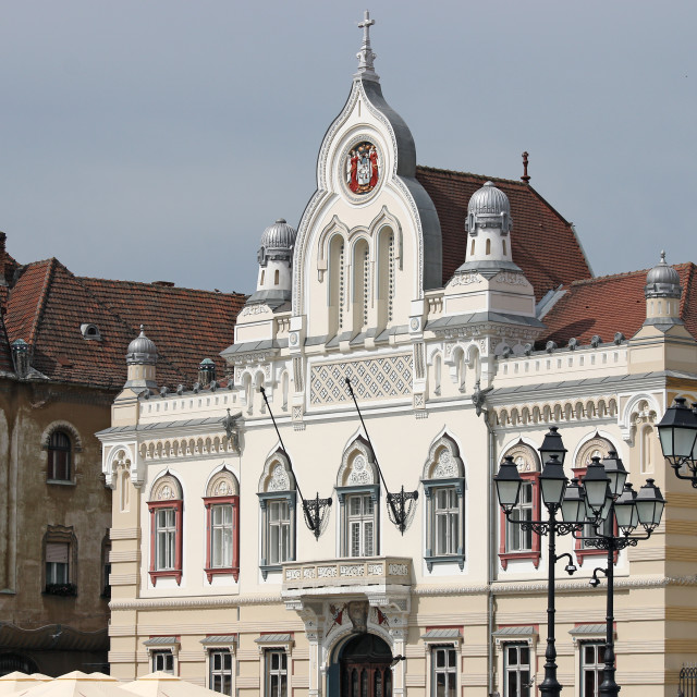 """old buildings Union Sqaure Timisoara Romania"" stock image"