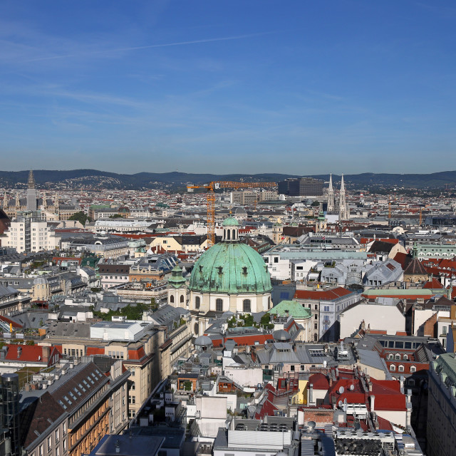 """""""Vienna cityscape old and modern buildings Austria"""" stock image"""